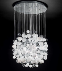 pendant lamp BOLLICINE SP14 Ø50cm white or chrom