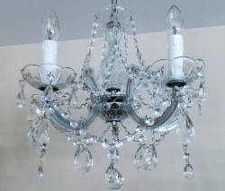 Venice chandelier brass or nickel 5 arms <s>199€</s>