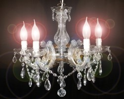 Venice chandelier brass or nickel 5 arms <s>149€</s>