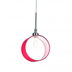 pendant light ANELLO SP1 Ø15cm red