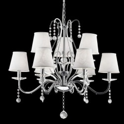 crystal chandelier SENIX 9-arms Ø74cm chrome