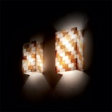 wall lamp SCACCHI 2-flames amber