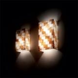 Wandleuchter SCACCHI 2-flammig amber