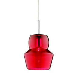 pendant lamp ZENO SP1 Ø22cm red or blue