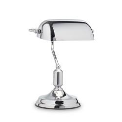 Tischlampe LAWYER 1-flammig wahlweise messing, brüniert oder chrom