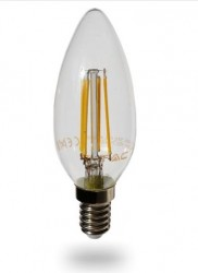 LED_Lampe 4 Watt- E14 Filament 470-Lumen, warm-weiss, 2700 K