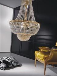 Kristall Kronleuchter AMSTERDAM Ø60cm vergoldet oder silberfarben