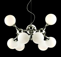 High fashionable pendant light NODI SP9 chrom-white