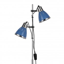 Stehlampe ELVIS 2-flammig Ø24cm blau