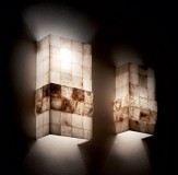wall lamp STONES 2-flames amber