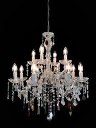 Venice crystal chandelier 12 arms colour