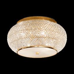 Kristall Deckenleuchter PASHA Ø40cm 6-flammig gold oder silber