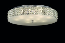 ceiling lamp ROMA 12-flames Ø60cm chrome