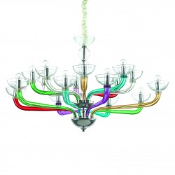 chandelier CASANOVA 12-arms Ø89cm color