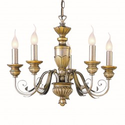 chandelier DORA 5 arms golden brown