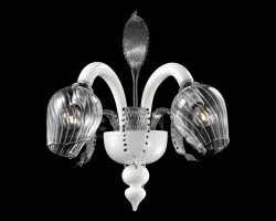 wall lamp VERSAILLE 2-arms white