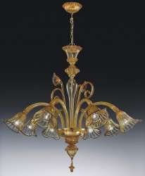 MURANO chandelier San Marco 8 arms Ø100cm