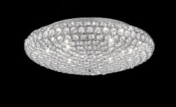 ceiling lamp KING 7-flames Ø46cm chrome or brass