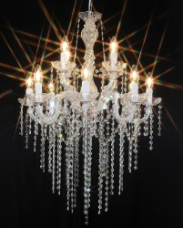 chandelier 12arms made with SPECTRA® Crystal by SWAROVSKI MSRP 699¤