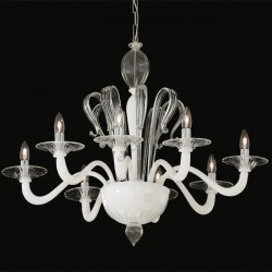 chandelier SOGNO 8 arms Ø90cm white