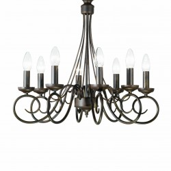 chandelier BRANDY 8 arms Ø55cm chrome