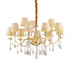 crystal chandelier PANTHEON 12-arms Ø97cm gold