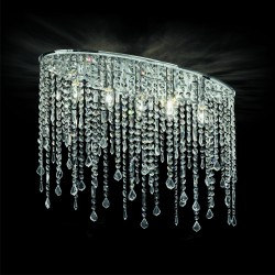 ceiling light RAIN 5-flames 69cm chrome