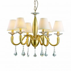 chandelier SOSPIRO 6 arms Ø69cm gold