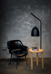 floor lamp PIANO length 43cm, height 164cm black