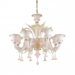 crystal chandelier ANTONIETTA 8-arms Ø73cm rose
