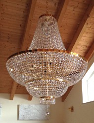 crystal chandelier St.Moritz Ø120cm gold-plated or nickel-plated