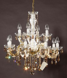 chandelier 12arms made with SWAROVSKI® ELEMENTS MSRP 899¤