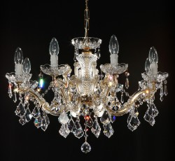 crystal chandelier 8 arms gold plated or nickel MSRP 899¤