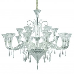 crystal chandelier SANTA  18-arms Ø120cm glass