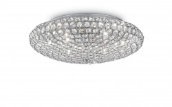 ceiling lamp KING 9-flames Ø53cm chrome or gold