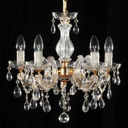 chandelier gold 5 arms 45cm