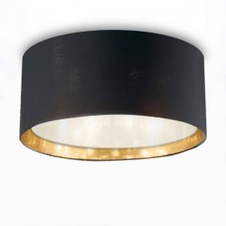 ceiling light WHEEL 5-flames Ø60cm black/gold