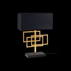 table lamp LUXURY TL1 black chrome/gold
