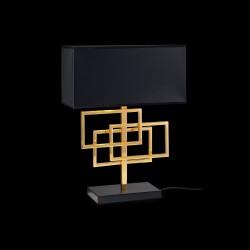 Tischlampe LUXURY 1-flammig 46,5cm schwarz chrom/gold