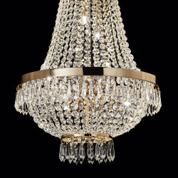 chandelier CAESAR SP12 Ø55cm chrome or gold
