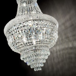 chandelier DUBAI SP10 Ø52cm chrome or gold