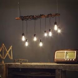 Hängeleuchte ELECTRIC 8-flammig 94cm rostbraun/schwarz