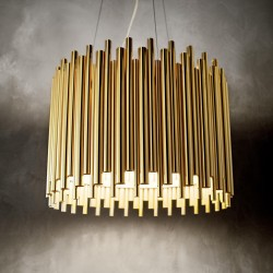 Hängeleuchte PAN gold 5-flammig Ø47cm