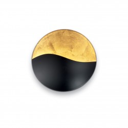 Wandleuchter SUNRISE 3-flammig 27,5cm schwarz/gold