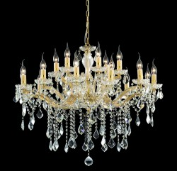 crystal chandelier FLORIAN 18 arms Ø86cm with SPECTRA® Crystal by SWAROVSKI
