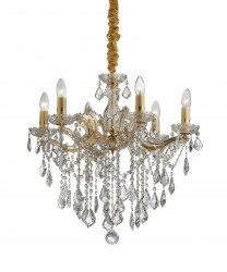 crystal chandelier FLORIAN Ø60cm 6 arms with SPECTRA® Crystal by SWAROVSKI