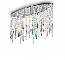 ceiling light RAIN 5-flames 69cm colour