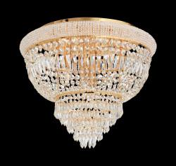 Kristall Deckenleuchter DUBAI Ø52cm 6-flammig chrom od. gold