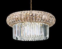 pendant lamp NABUCCO 12-flames Ø60cm gold
