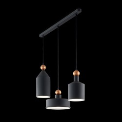 pendant lamp TRIADE 3-flames grey